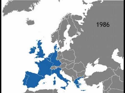 European Union Enlargement animated map - YouTube