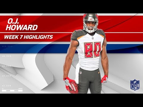 O.J. Howard Snags 2 TDs & Nearly 100 Yards! | Buccaneers vs. Bills | Wk 7 Player Highlights