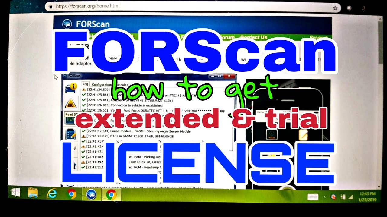 FORScan License update install get extended trial
