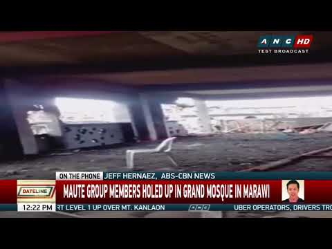 Maute terrorists holed up in Marawi grand mosque