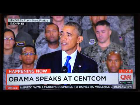 Obama Speaks On Isis Options At Centcom At MacDill Air Force Base