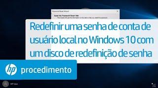 Redefinir uma senha de conta de usuário local no Windows 10 com um disco de redefinição de senha