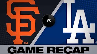 Dodgers belt 3 homers in 9-8 victory   Dodgers-Giants Game Highlights 6/20/19