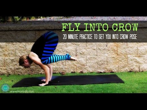 20 minute yoga to get into crow pose  youtube