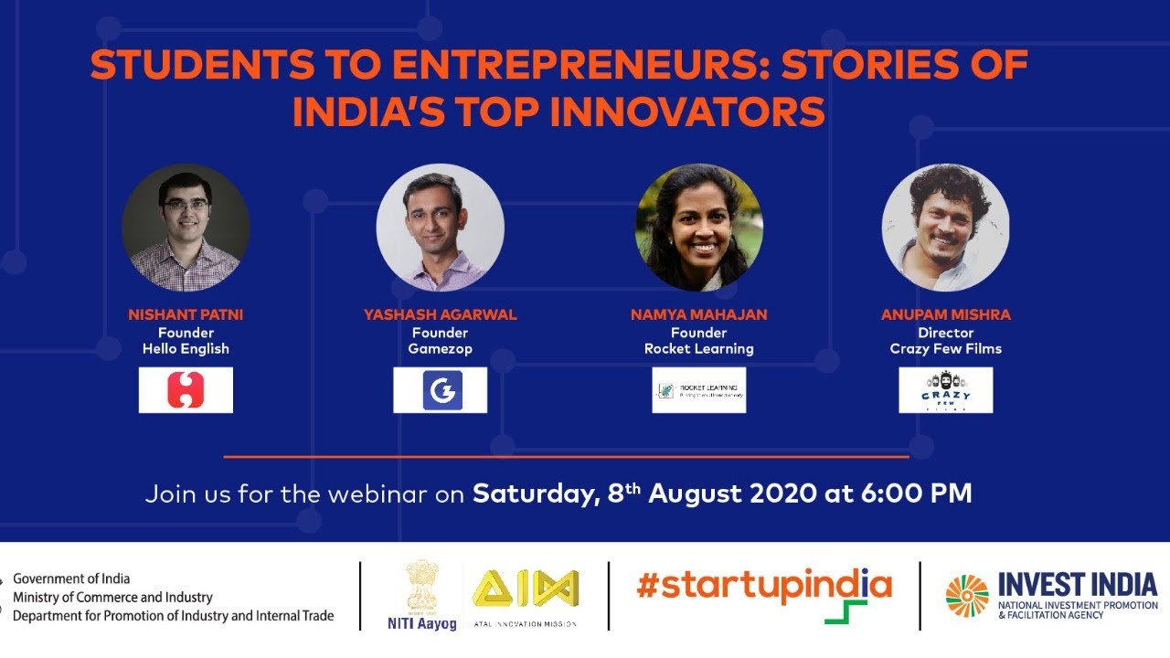 Students to Entrepreneurs: Stories of India's Top Innovators
