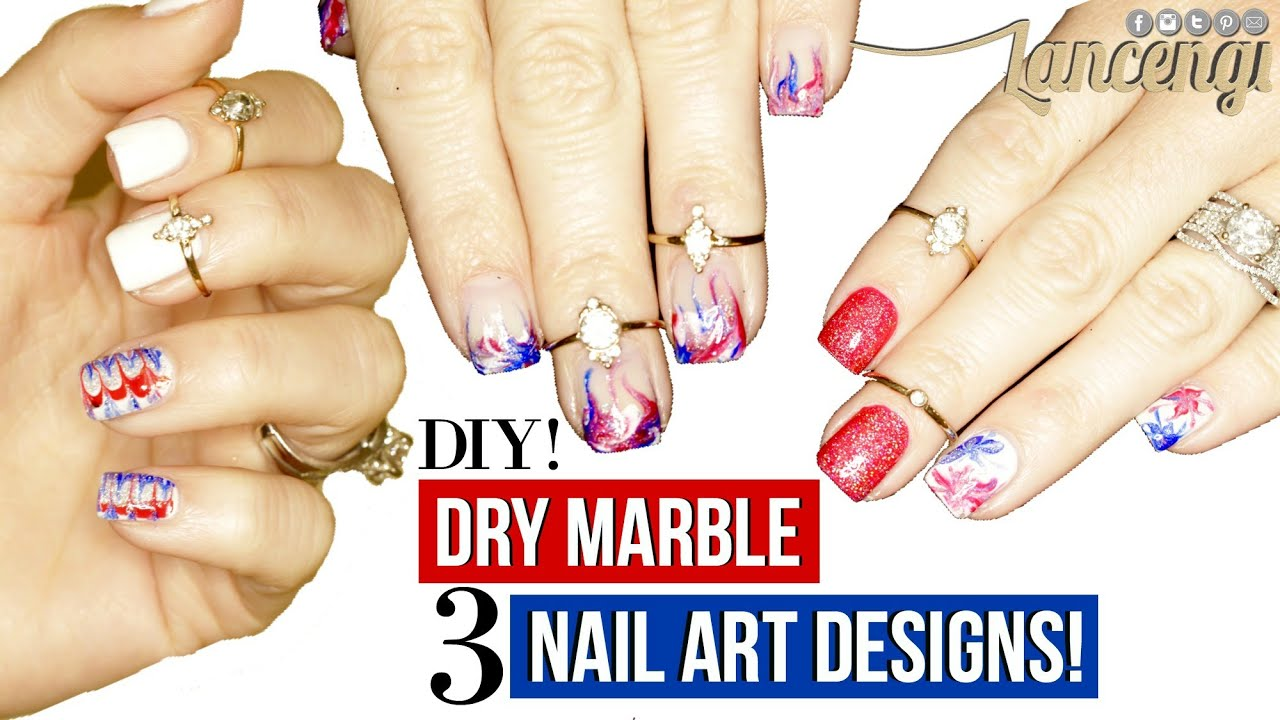 Tips & Tricks to Dry Watermarble Designs - DIY Memorial Day + 4th of ...