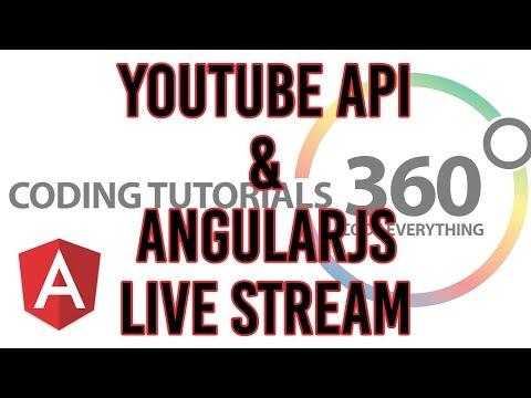 YouTube API AngularJS: Live Stream