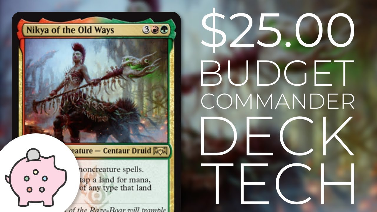 Nikya of the Old Ways   EDH Budget Deck Tech $25   Aggro   Magic the  Gathering   Commander