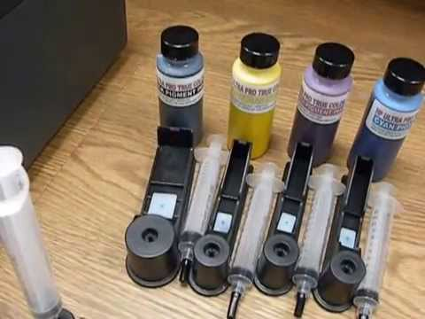 How To Cartridges Ink Refill Hp Officejet Pro 8100 860