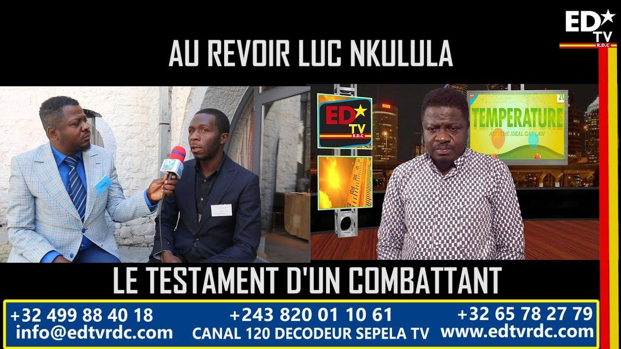 """LE TESTAMENT D'UN COMBATTANT """"LUC NKULULA"""""""