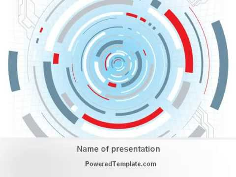Sci fi tunnel powerpoint template by poweredtemplate youtube toneelgroepblik Gallery