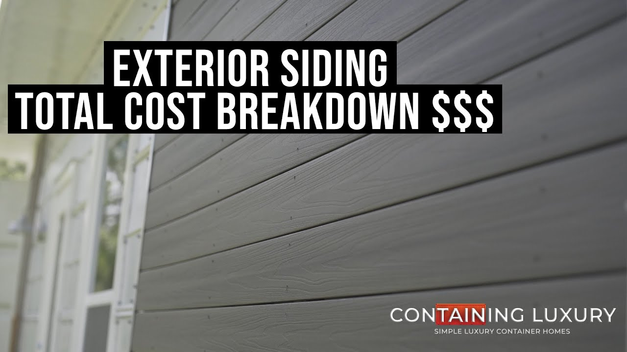 Download Shipping Container Build: Exterior Siding Total Cost Breakdown