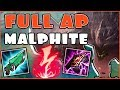 Full AP Malphite Is BACK! These New Runes Are So Strong!?  New AP Malphite Mid Gameplay Season 8