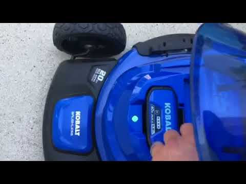 How To Start Electric Kobalt Brushless Lawnmower