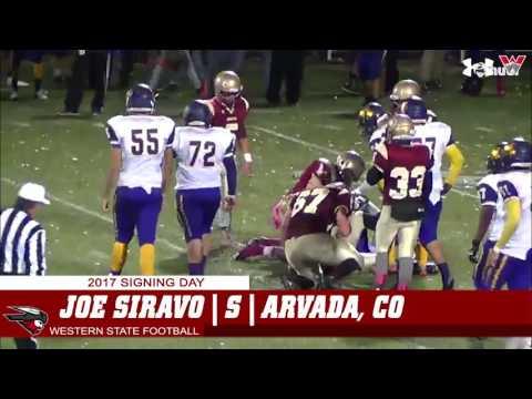 Western State Football  Joe Siravo Highlights