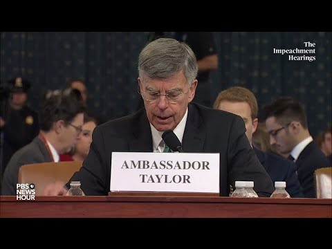 watch:-bill-taylor-says-staffer-heard-trump-ask-about-'the-investigations'