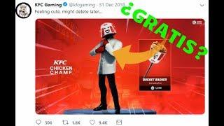 HOW TO GET A SKIN *FREE* IN FORTNITE - SKIN KFC GAMING