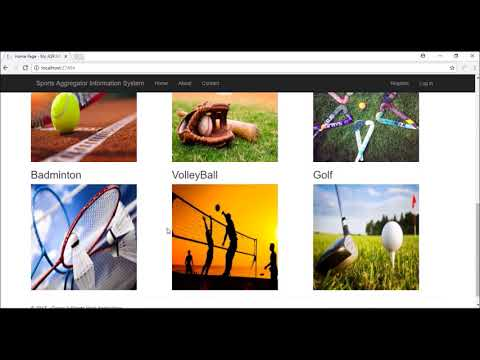 Final Project Video for Sport Aggregator Information System
