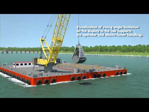 Liebherr - HS 8300 HD Pactronic in dredging application on a barge