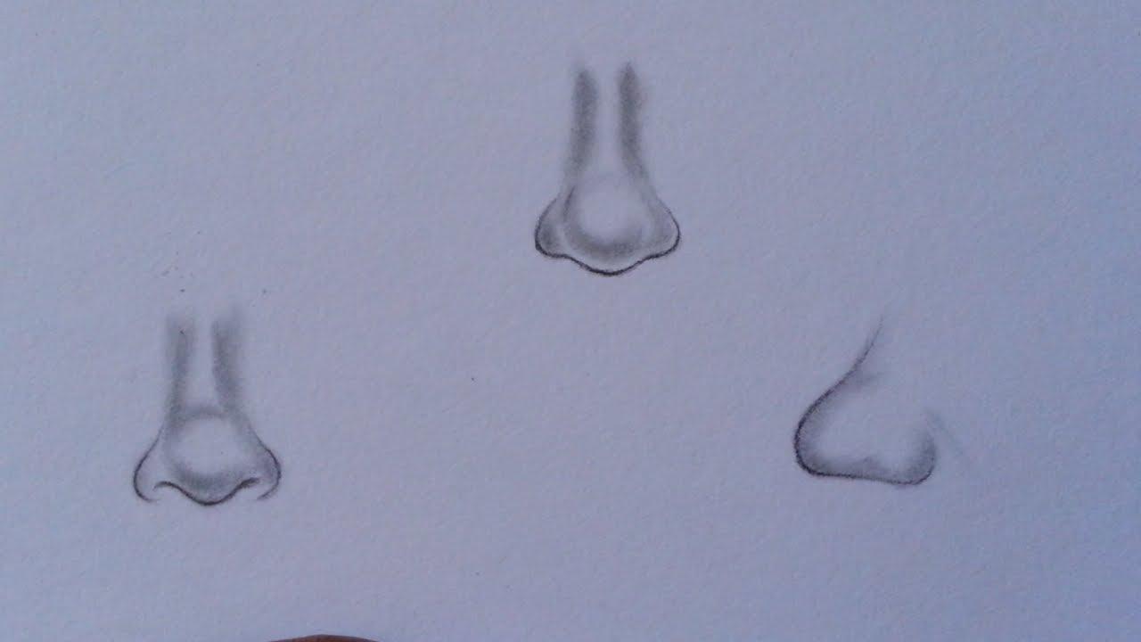 كيف أرسم أنف