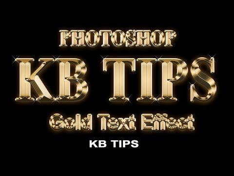 PHOTOSHOP 👉 Photoshop Gold Text Effect [Tutorial] / KB Tech