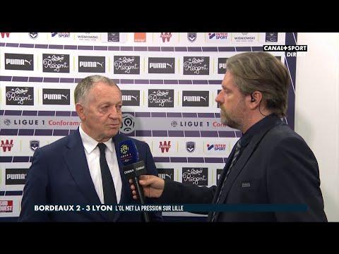 Ligue 1 Conforama - 34ème journée : La réaction de Jean-Michel Aulas après Bordeaux / OL