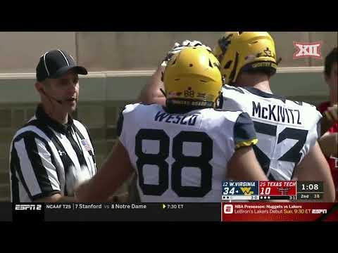 West Virginia at Texas Tech Football Highlights