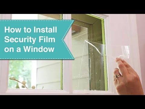 Installing Security Film