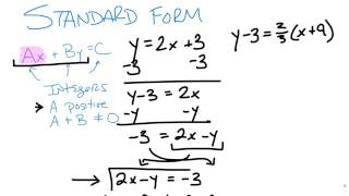 Schreiben von Gleichungen in Ax+By=C form