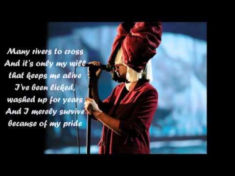 Sia - Many Rivers To Cross (lyrics)