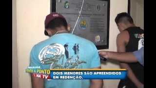 Menores são apreendidos apos comterem um homicídio em Redenção-Ce.