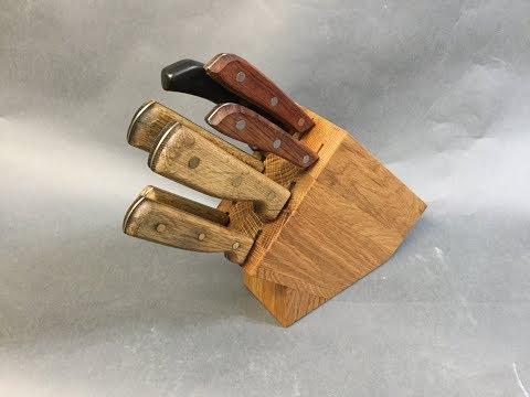 White Oak Butcher Block Knife Block Upgrade - 41