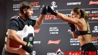UFC Fortaleza: Entrenamiento público de Bethe Correia - UFC Fight Night 106