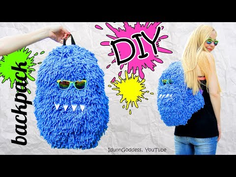 DIY Fluffy Monster Backpack – How To Make A Funny Hairy Back