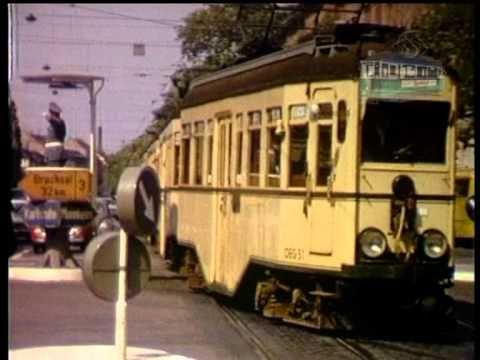 Straenbahnen trams in den 60er Jahren und heute  Eine