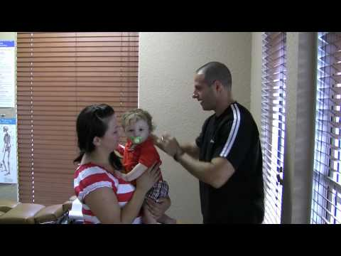 Pediatric chiropractic adjustment in Parkland FL by Dr. Joseph Bogart - Chiropractor