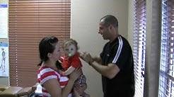 Pediatric chiropractic adjustment in Parkland FL by Dr. Joseph Bogart - Chiropractor