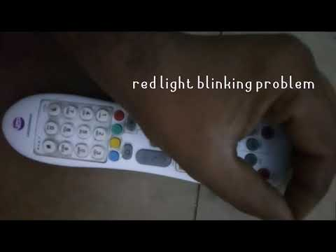 Videocon d2h remote red light blinking problem