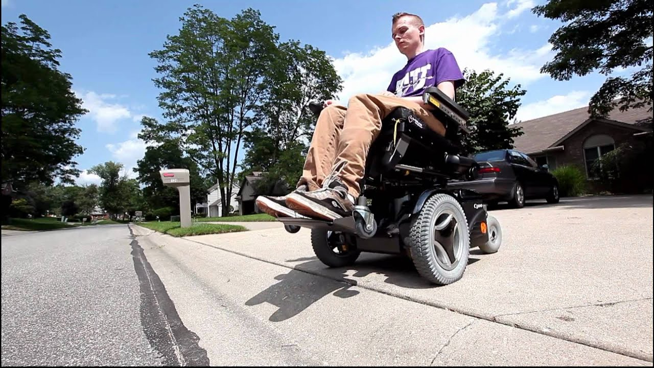 Ross The Curb And The Permobil C500 Power Wheelchair