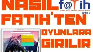 Okulun (Fatih'in) İnternetinden Oyunları açma