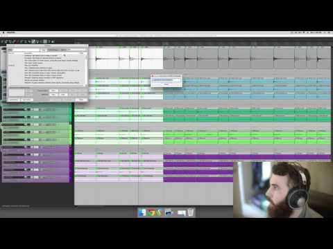 how to put drums in reaper