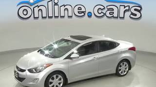 A99679YT Used 2012 Hyundai Elantra Limited FWD 4D Sedan Silver Test Drive, Review, For Sale