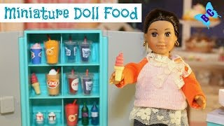 American Girl Mini Doll Food | MiWorld | Dairy Queen | Drinks, Hot Dogs, Ice Cream | Buterflycandy