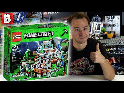 Biggest LEGO Minecraft Set EVER! | 21137 Mountain Cave! | BrickVault LIVE - 2017 Minecraft Set, Biggest Ever Made!