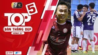 Top 5 bàn thắng vòng 21 V.League | Vinh danh siêu phẩm đá phạt chân trái | VPF Media