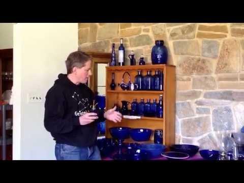 Bowie Farm House Estate Sale: Cobalt Blue Glass Room