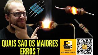 Ao Vivo - Os Maiores Erros na Utilização dos Resistores Eletrônicos - Eletronica Facil
