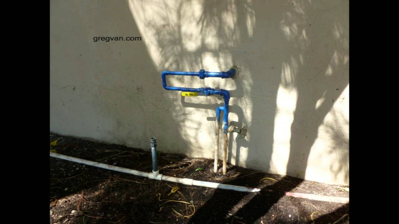Outdoor plumbing repair that can create problems water for Water pipe outside house