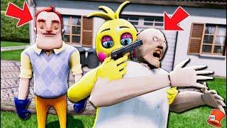 ANIMATRONICS vs GRANNY & HELLO NEIGHBOR! (GTA 5 Mods For Kids FNAF RedHatter)
