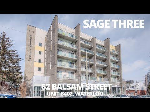 SAGE THREE - 62 Balsam Street - Unit B402 - Waterloo Real